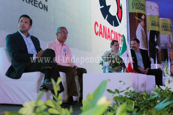 Buscan gobernador y Canacintra Michoacán que Morelia sea sede de la reunión nacional de esta cámara
