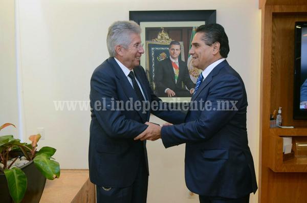 Revisan secretario de la SCT y Silvano Aureoles proyectos de infraestructura para Michoacán