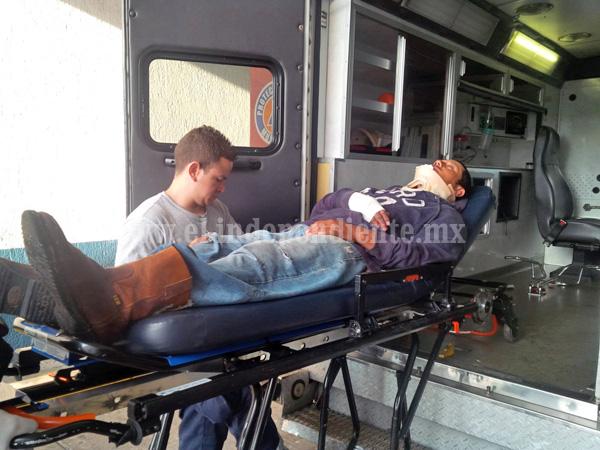Campesino herido en percance vehicular