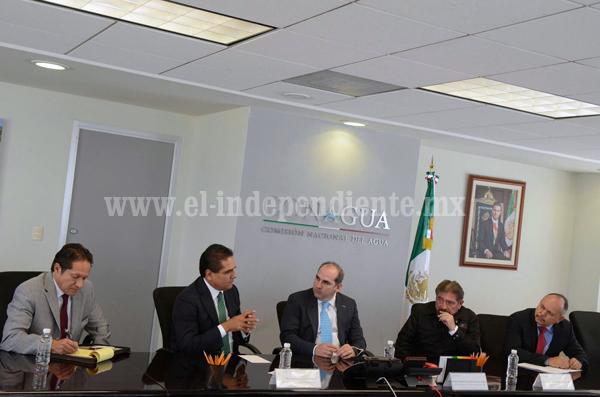 Acuerdan Silvano Aureoles y director de Conagua ampliar coordinación para concluir obras en Michoacán