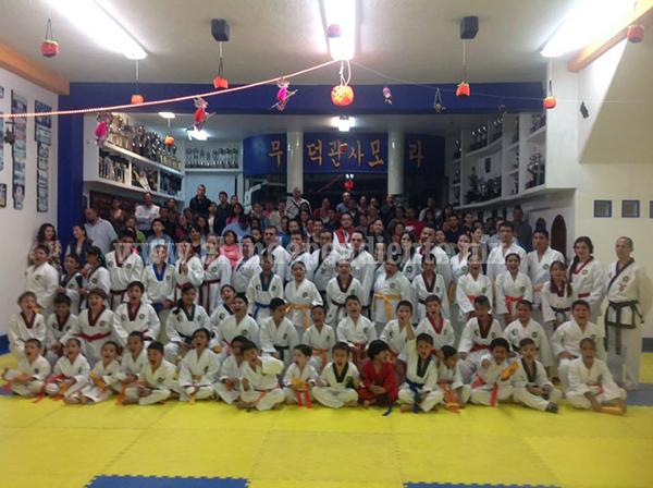 Realizaron el 243° Examen de Kups, de la Escuela Moo Duk Kwan Zamora