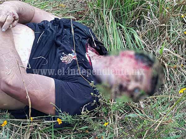 Abandonan cuerpo baleado de un hombre en brecha de Jacona