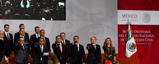 Rinde protesta Silvano Aureoles como integrante del Consejo Nacional de Protección Civil
