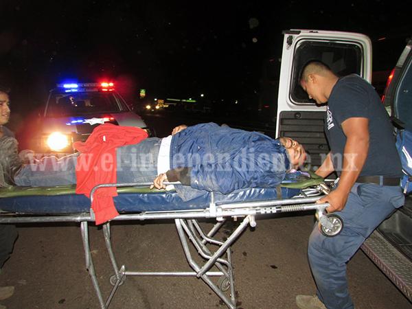 Se accidentan lecheros en Chaparaco y terminan hospitalizados