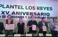 Firma de acuerdo entre el ICATMI y el  municipio de Los Reyes, Periban, Tinguindin…