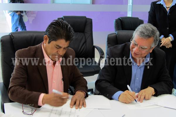 Jacona y UNIVA  firmaron importante convenio de colaboración