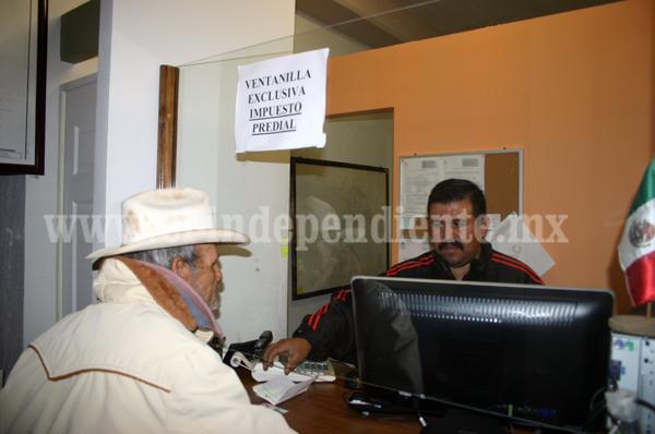 Jacona recauda alrededor de  700 mil pesos de diversos impuestos