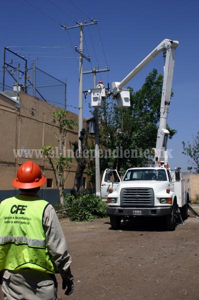 16 mdp ejerció este año la CFE zona Zamora  en mantenimiento de infraestructura