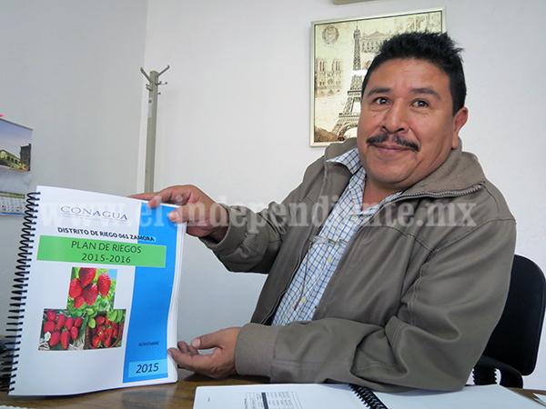Plan de riego contempla irrigar más de 13 mil hectáreas