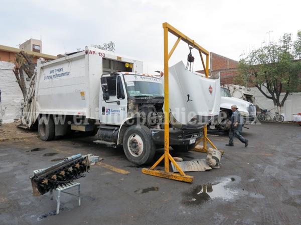 Vehículos descompuestos afectan recolección de basura