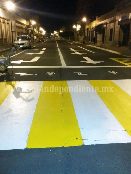 Balizan calles de Zamora