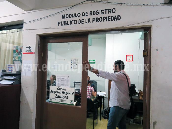 Incrementan en más de 40 pesos servicios en Registro Público de la Propiedad