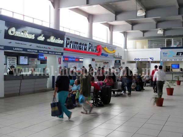 Central de autobuses incrementó sus corridas en un 15 por ciento