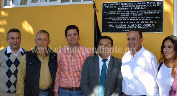 No quedará dentro de los activos del PRD nacional el edificio del comité municipal de Jiquilpan