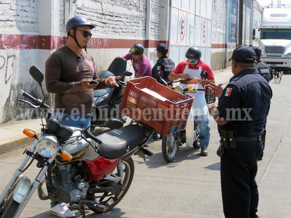 Multas para motociclistas costarán 700 pesos