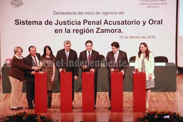 Inició Nuevo Sistema de Justicia Penal en la región Zamora