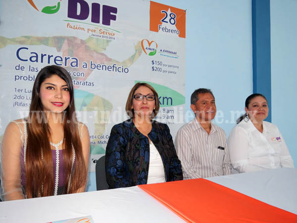 Realizará DIF Jacona carrera a beneficio de las personas con  problemas de cataratas