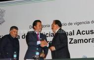 Alcalde felicitó la modernización de sistema en la implementación de justicia penal en Michoacán