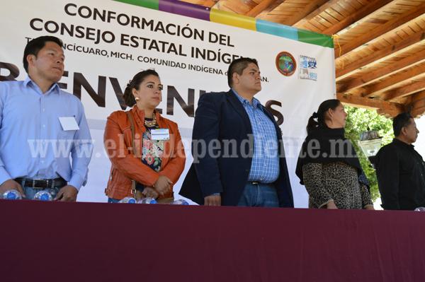 Conforman Consejo Estatal Indígena en Tangancícuaro