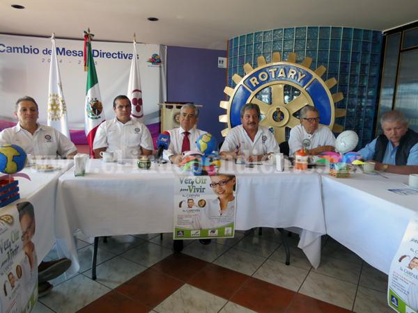 Club Rotario anunció  su 6ª campaña de lentes y su 3ª campaña auditiva