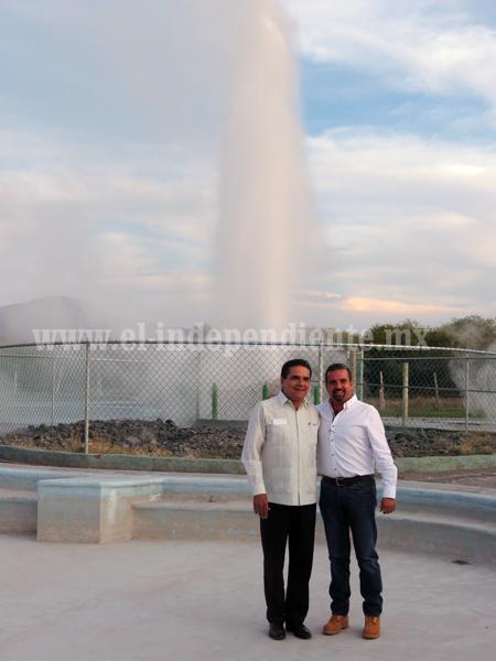 Reactivó Silvano Aureoles el géiser de Ixtlán