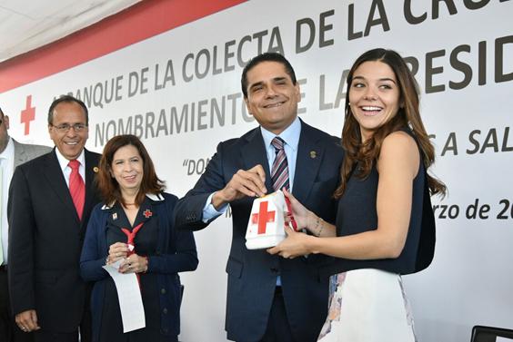 Arranca Gobernador colecta de la Cruz Roja Michoacán 2016