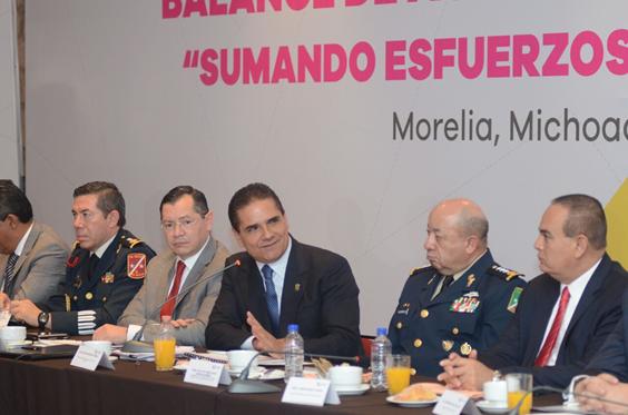 Hoy Michoacán es un estado más seguro: SESNSP