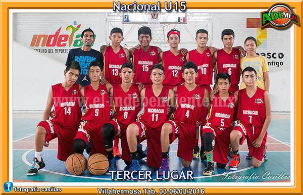 Michoacán logró tercer lugar nacional de basquetbol