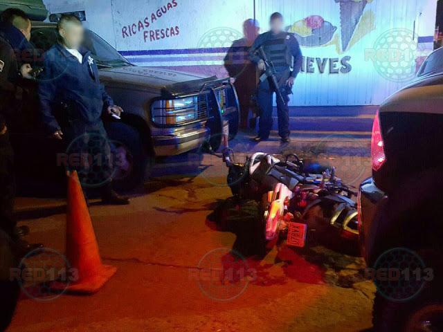 Tras persecución y balacera, director de SP de Jacona herido y presunto ladrón abatido