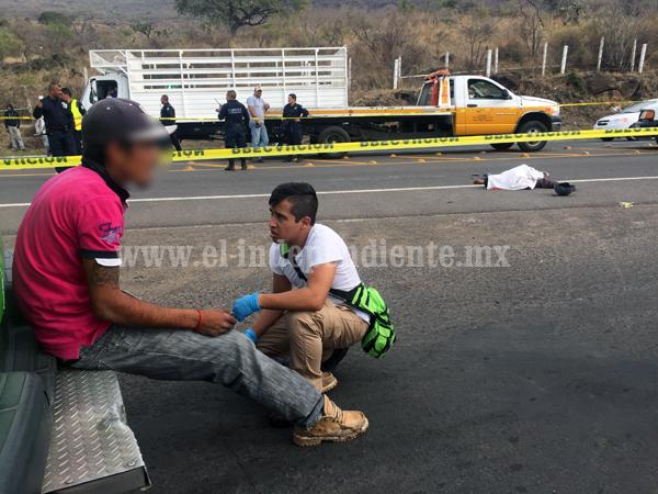 Menor muere arrollado por un tráiler en el libramiento Norte de Zamora; hay un sobreviviente