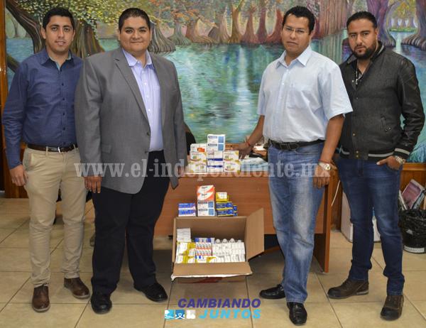 Alcalde de Tangancícuaro realizó donación de medicamentos al CERESO de Zamora
