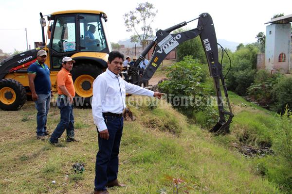 Arrancó la limpieza de drenes y Río Celio en Jacona