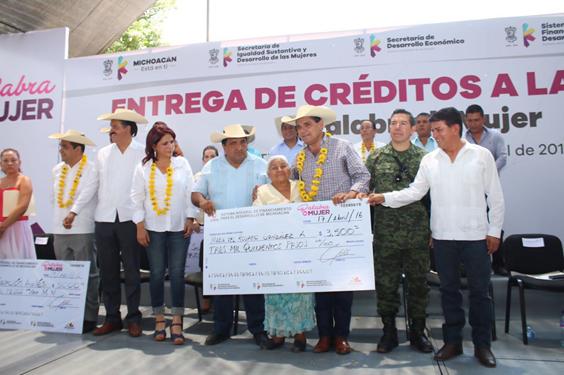 Tendrá Crédito a la Palabra 20 mdp más para beneficiar a las mujeres: Silvano Aureoles
