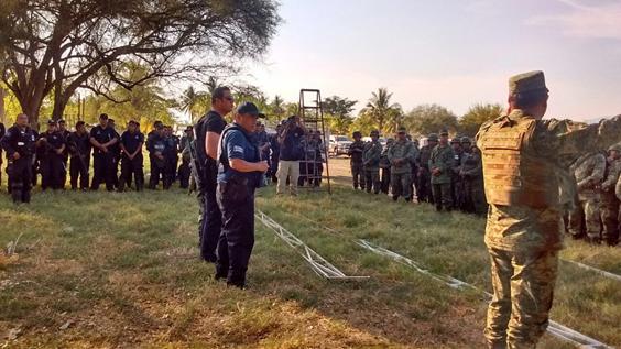Instalan Base de Operaciones Mixtas en Cenobio Moreno, municipio de Apatzingán