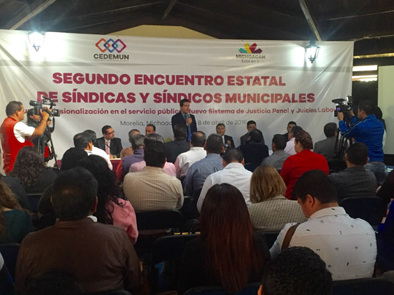 Capacitan a síndicos municipales sobre el Nuevo Sistema de Justicia Penal