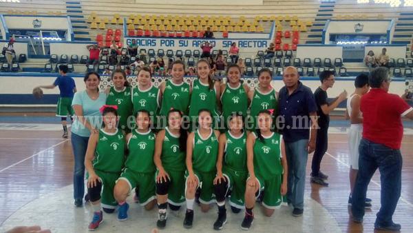 Selección michoacana de basquetbol femenil consiguió pase a Olimpiada Nacional