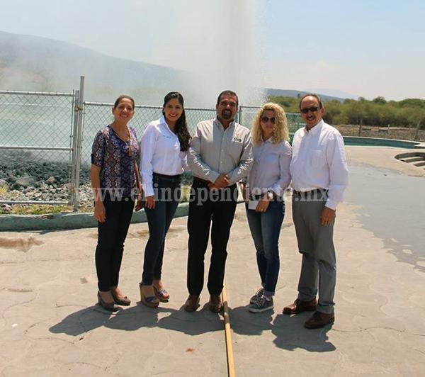 Formalizó Secretaría Turismo entrega de administración del Géiser a municipio