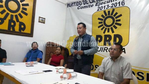 Asegura dirigente estatal del PRD respeto para militantes que abandonen las filas del partido