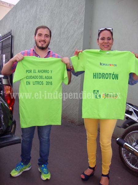 """Todo listo para el Hidrotón """"Por el ahorro y cuidado del agua en litros 2016"""""""