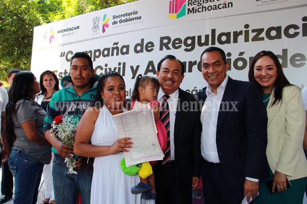 Ofrecieron casi 500 servicios durante campaña de Regularización del Estado Civil