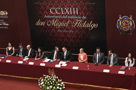 Asiste Gobernador a 263 aniversario del natalicio de Don Miguel Hidalgo y Costilla