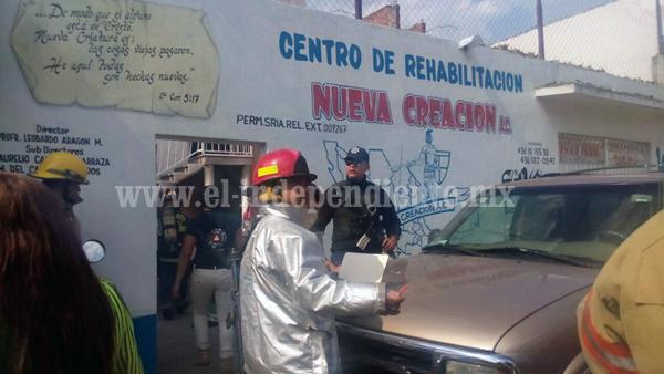 Flamazo en centro de rehabilitación de Zacapu, moviliza a bomberos