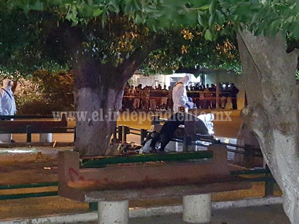 Motociclistas asesinan a dos hombres en la Plaza de la colonia Miguel Hidalgo de Zamora