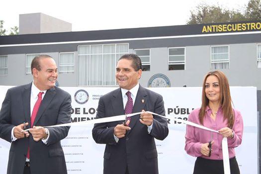 Gobernador de Michoacan inauguro obras en la Procuraduria de Justicia