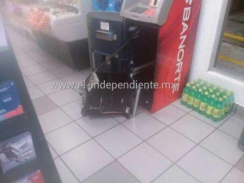 Vacían cajero automático en Tarímbaro y se llevan una fuerte cantidad de dinero