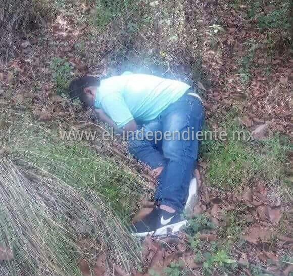 Identifican al joven muerto a tiros hallado en un predio de la comunidad de El Tigre