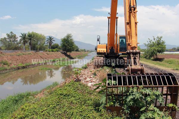 70 por ciento avance en conservación de  red de drenaje en el módulo de riego 2