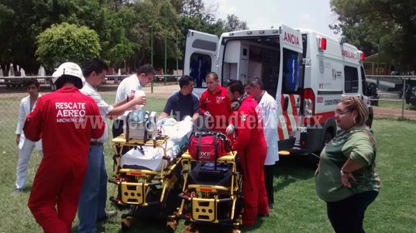 Bebé cae a un cazo caliente donde preparaban chicharrón, en Ixtlán