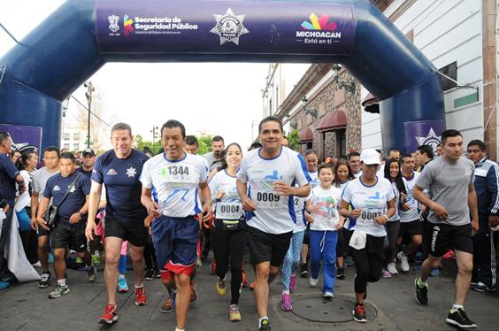 Participa Gobernador en 3ra carrera atlética Corre con tu Policía