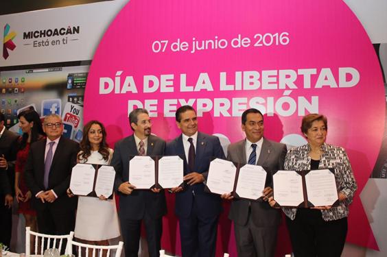 Garantía plena a la libertad de expresión en mi Gobierno: Silvano Aureoles